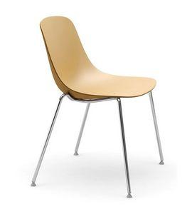 Pure Loop, Chaise avec pieds en acier chromé