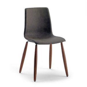Scacco W, Chaise empilable avec pieds en bois