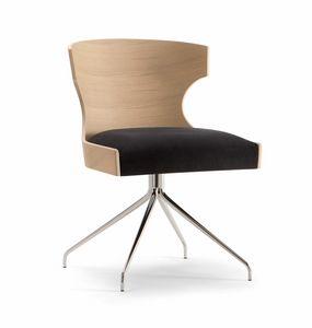 XIE SIDE CHAIR 052 S Z, Chaise avec base en araignée