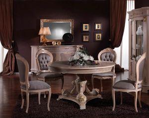3640 TABLE, Table ronde de style classique, prix outlet