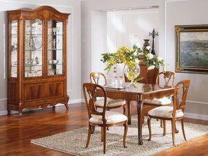 OLIMPIA B / Extendible Square Table - Outlet, Table de style classique en bois, prix de sortie