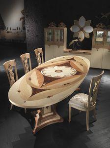TA40K Dalì table, Table ovale à prix outlet, style classique