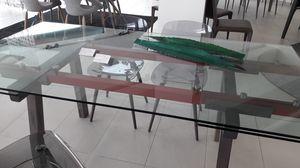 Tracks, Table de sortie, avec plateau en verre transparent extensible