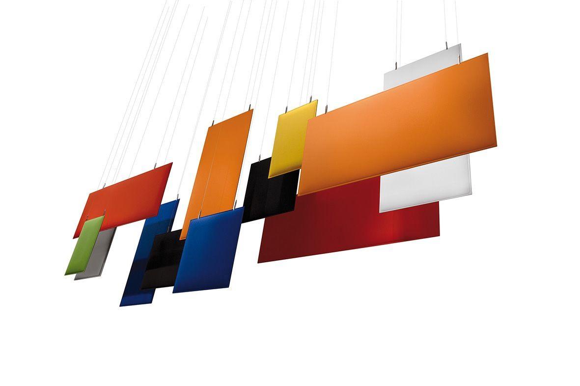 Baffle, Insonorisant panneaux de plafond