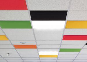 In, Panneaux acoustiques colorées pour plafond suspendu