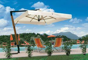 Palladio arm, Parasol avec structure en bois, pour les jardins et les piscines