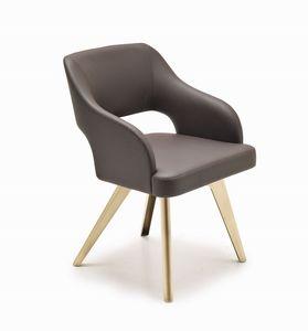 Adria chaise, Président saveur vintage, avec finition personnalisable