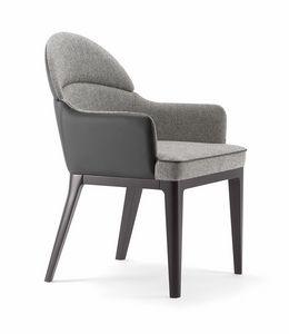 ASTON ARMCHAIR 062 PO, Petit fauteuil à dossier arrondi