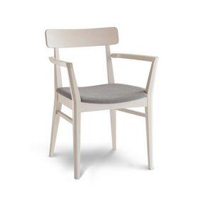 C69, Chaise en bois avec accoudoirs pour hôtels
