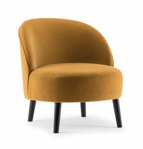 GINGER LOUNGE CHAIR 060 P, Fauteuil avec assise parfaitement ronde
