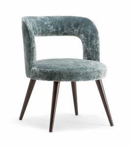 HOLLY ARMCHAIR 065 PO, Fauteuil au design arrondi