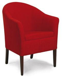 Minorca, Chaise de bain rembourré, en bois, pour le salon