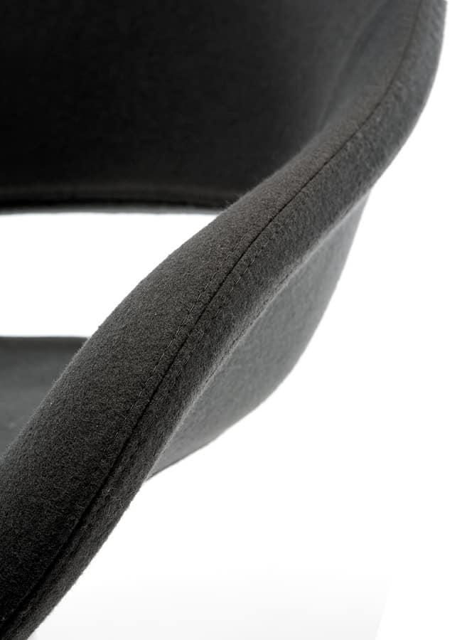 Palm SP, Chaise pivotante avec siège et dossier en mousse ignifuge