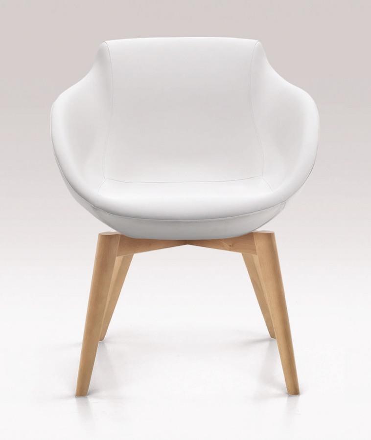 PL 5005, Chaise avec les jambes en bois, recouverts de polyuréthane