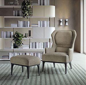 PO71 fauteuil, Fauteuil relax avec dossier haut