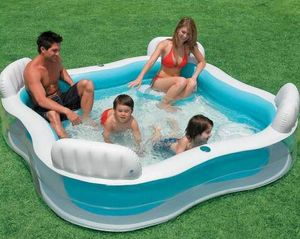 Piscine gonflable Intex 56475 4 places spa - 56475, Piscine carrée gonflable pour 4 personnes