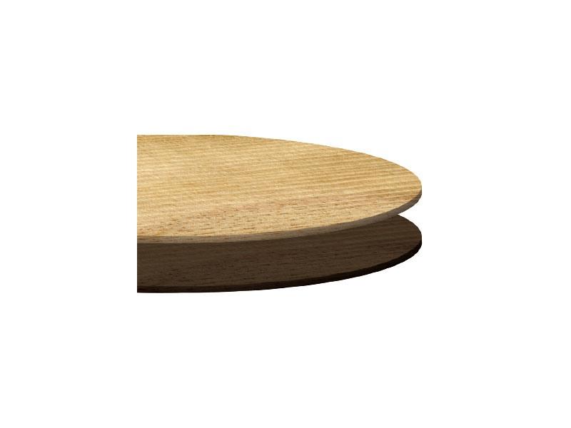 Tops laminate cod. 113, Sommet arrondi pour une table basse, différentes finitions, pour les snack-bars
