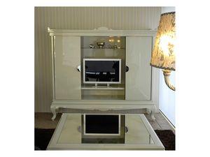 3520 TV STAND, Meuble de télévision dans un style contemporain aux suites d'hôtel
