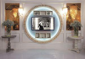 Art. 110, TV-support, fixation murale, style classique de luxe