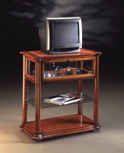Oxford Art.510 Chariot de télévision, Meuble TV avec roulettes, dans la main de noix