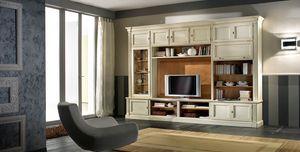 R 11, Meuble TV laquée, avec étagères et armoires