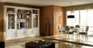 R 14, Meuble TV laqué, avec étagères et armoires