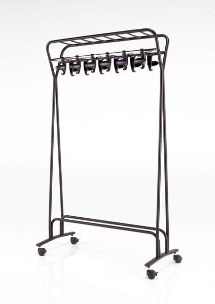 Hook stander, Hanger sur roues, en acier peint