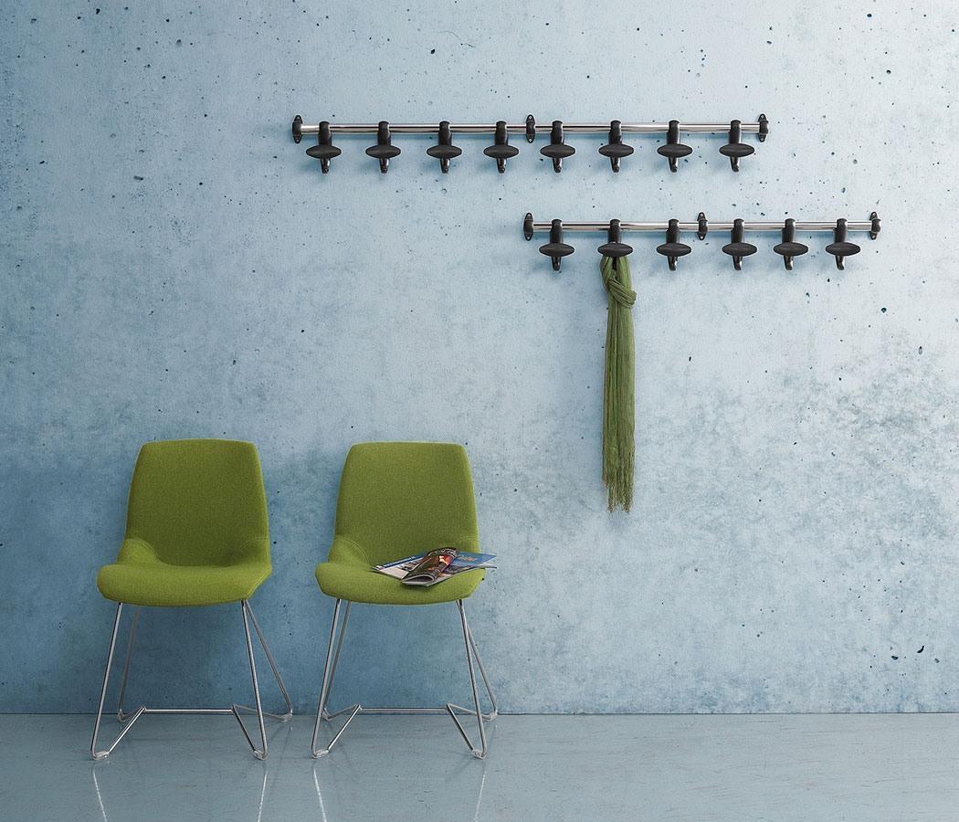 Hoow wall coat rail, Acier cintre de mur et de polycarbonate