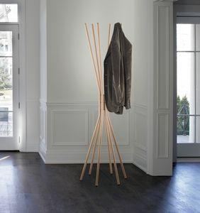 Mikado, Cintre en acier, avec finition en bois