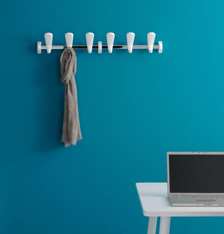 Swing wall coat rail, Modular crochet de manteau en acier et de polymère