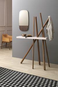 WOOD, Manteau en bois debout avec étagère pour les objets