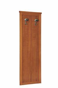 Zeno garde-robe, Panneau en bois avec cintre, pour chambres d'hôtel