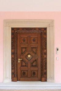 Auriga, Porte d'entrée en bois de chêne massif, des sculptures en main, idéal pour le château ou villa