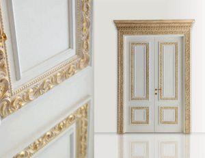 Castiglione Art. 1344/QQ, Porte élégante avec des décorations en or blanchi