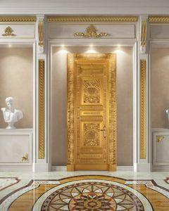 Corona Gold, Porte entièrement décorée en feuille d'or antique