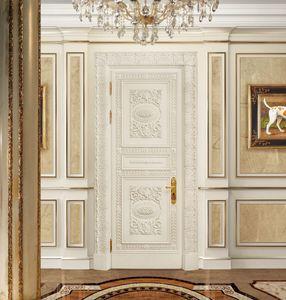 Corona White, Porte sculptée classique, laquée et laquée