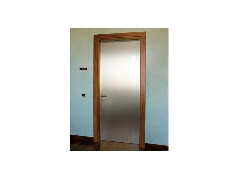 Gallery, Porte en aluminium brossé, cadre en bois de rose, pour le bureau à domicile et l'hôtel