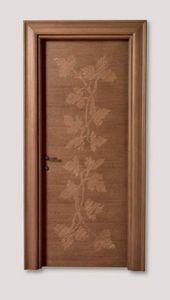 Hyde Park Art. 901/QQ/HP, Porte en chêne avec décorations artisanales