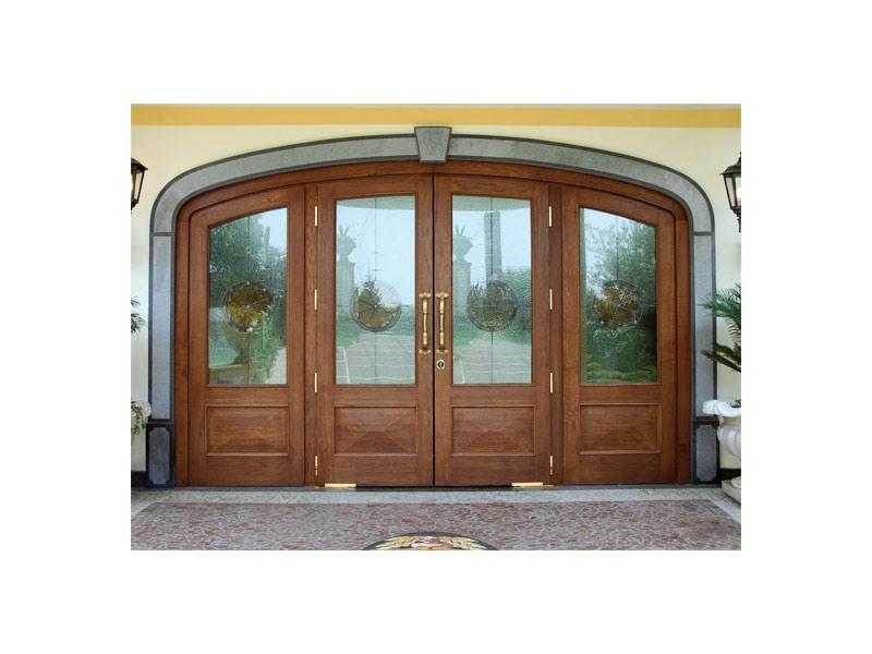 Imperiale Front Door, Porte d'entrée en chêne massif, verre incassable, ressorts de sol
