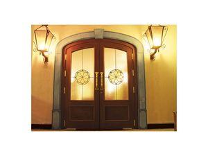 Imperiale, Porte d'entrée avec verre incassable, srtruttura chêne massif, Ferme- sol