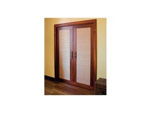 Luxury, Les portes coulissantes doubles caché, fait en tissu rose et ignifuge