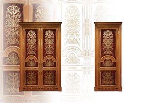 P105 Porte, Porte incrusté avec des portes doubles pour classique salon