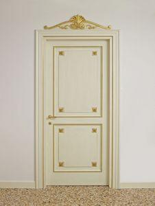 PORTE ART. PT 0002 - PT 0003, Portes laquées avec décorations dorées, d'hôtels de luxe
