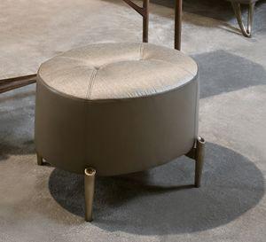AFRODITE pouf GEA Collection, Pouf ovale à pieds bronzés