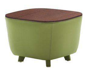Diadema 04023, Table basse pouf avec pieds en bois
