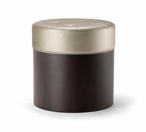 OSLO COFFEE TABLE 086 P H45, Pouf en bois, avec assise rembourrée