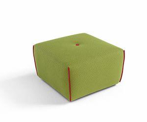 Yuki, Pouf carré recouvert de tissu