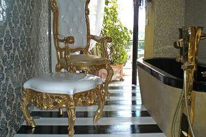 Finlandia S, Pouf classique de luxe pour la maison, de style baroque