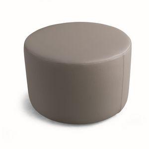 ART. 960 AROUND, Pouf rond polyvalent, couvert de faux cuir