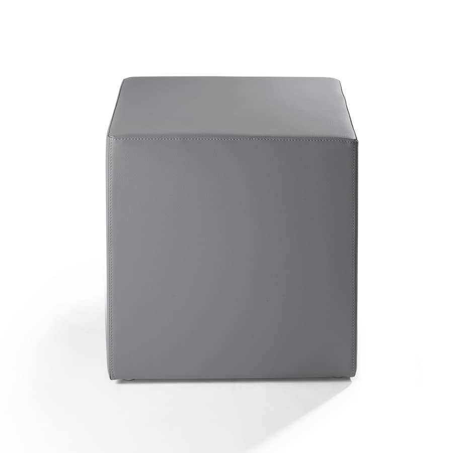 Cubo 45, Pouf pour salon, rembourré avec du caoutchouc ignifuge